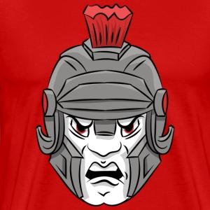custom Trojan mascot - head - Men's Premium T-Shirt
