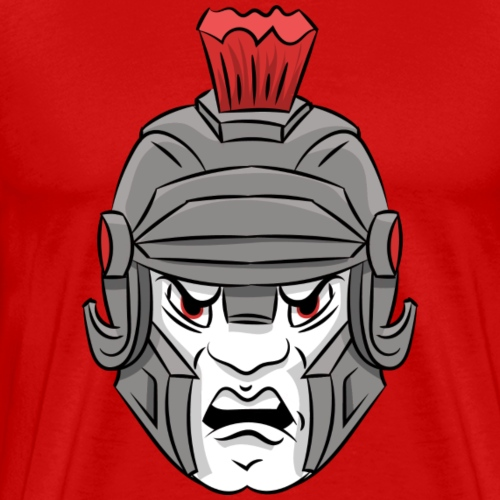 custom Trojan mascot - head - Men's Premium T-Shirt