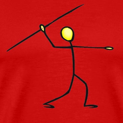 Stick figure Javelin T-shirts and Gifts - Men's Premium T-Shirt