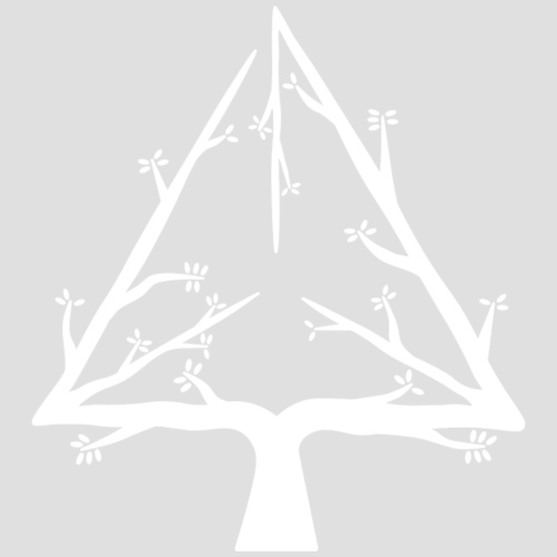 Geometree Tetrahedron - White - Men's Premium T-Shirt