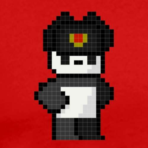 Pixel Panda Hat - Men's Premium T-Shirt