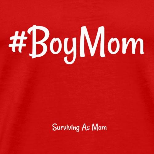 #BoyMom white - Men's Premium T-Shirt