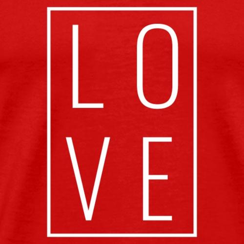 Love - Box Stacked (White Letters) - Men's Premium T-Shirt