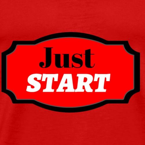 Just start - Men's Premium T-Shirt