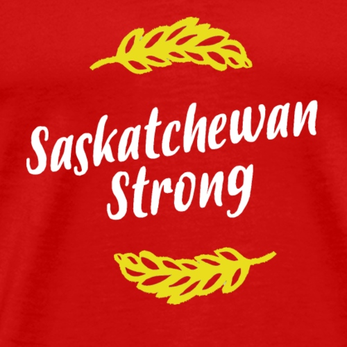 Sask Strong White and Gold - Men's Premium T-Shirt