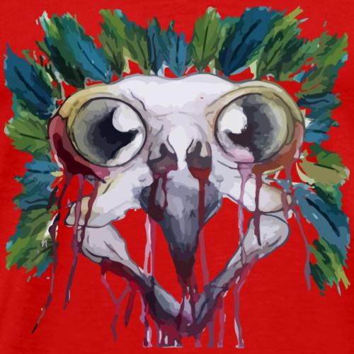 Surreal Bird Skull - Men's Premium T-Shirt