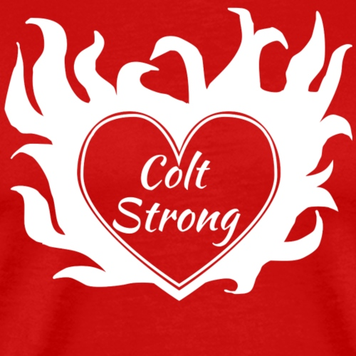 Flaming Heart Colt Strong - Men's Premium T-Shirt