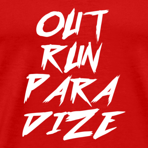 Outrun Paradize Text Logo - Men's Premium T-Shirt