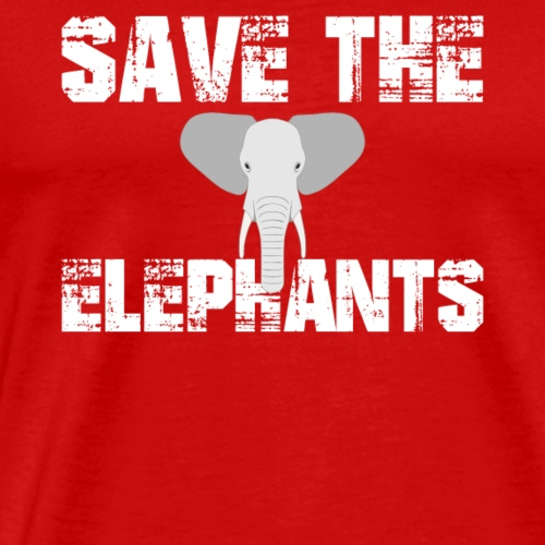 Save The Elephants Nature Animals Gift Environment - Men's Premium T-Shirt