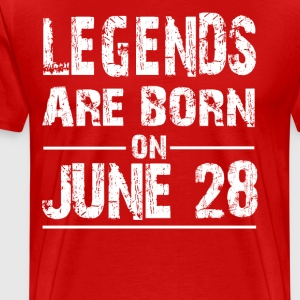 Legends are born on June 28 - Men's Premium T-Shirt