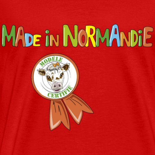 Cow Made in Normandie - Men's Premium T-Shirt