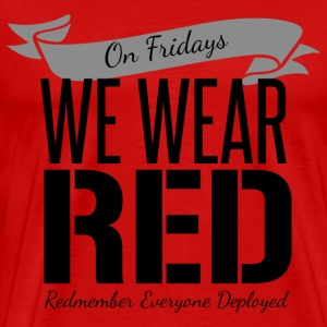 On Fridays We Wear Red - Black - Men's Premium T-Shirt