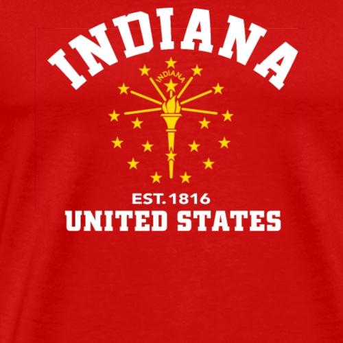 Indiana USA Est 1816 Patriotic Flag - Men's Premium T-Shirt