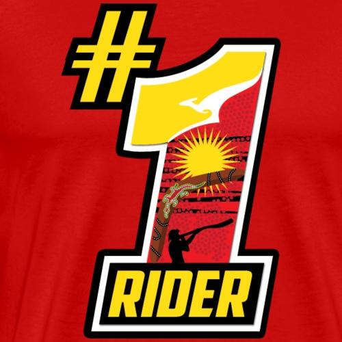 #1 Rider (Aboriginal art) - Men's Premium T-Shirt