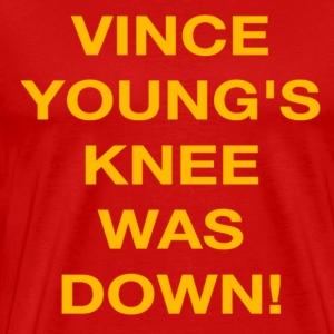 Vince Young's Knee Was Down - Men's Premium T-Shirt