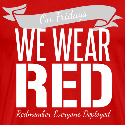 On Fridays We Wear Red - White - Men's Premium T-Shirt