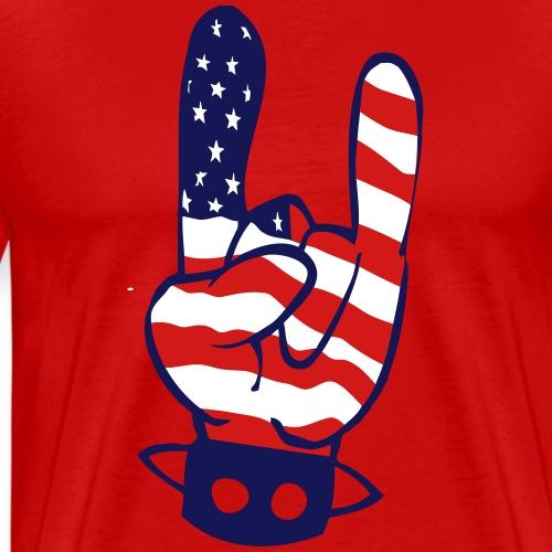 rock flag - Men's Premium T-Shirt