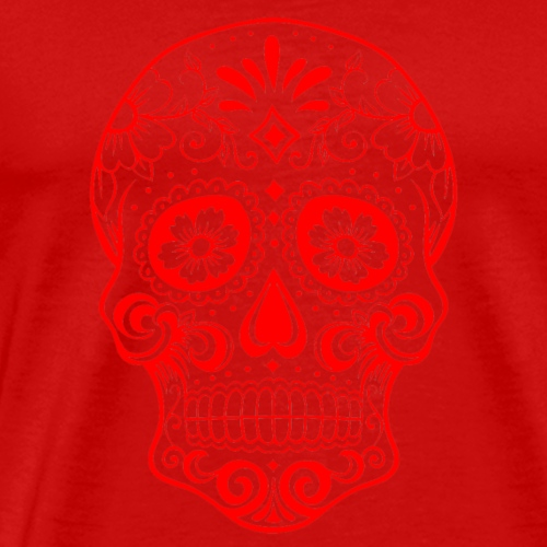 Decorative transparent skull, red - Men's Premium T-Shirt