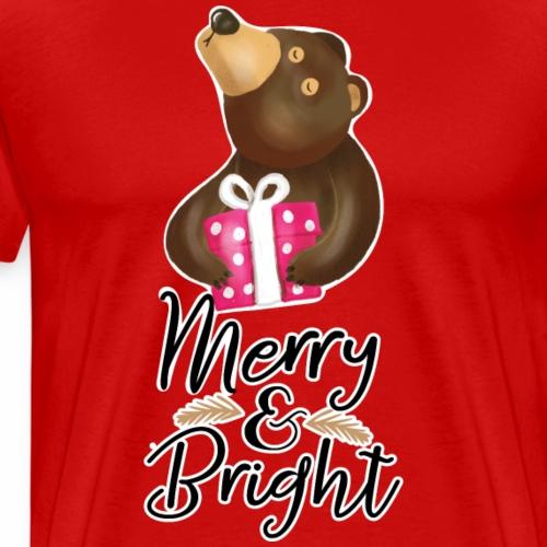 Merry and Bright - Men's Premium T-Shirt