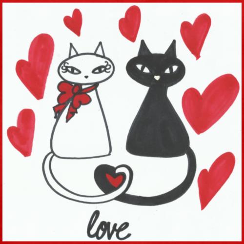 Cats' love - Men's Premium T-Shirt
