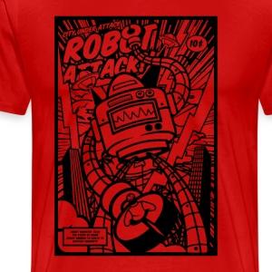 Robot Attack - Men's Premium T-Shirt