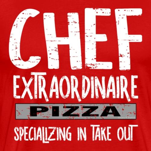 Chef Extraordinaire White Text - Men's Premium T-Shirt
