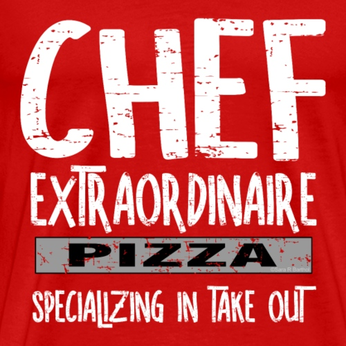 Chef Extraordinaire White Text - Men's Premium T-Shirt