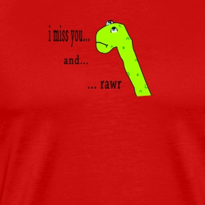 Rawr postcard - Men's Premium T-Shirt