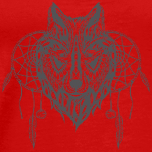 Wolf With Dream Catchers - Men's Premium T-Shirt