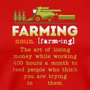 Farming Definition Shirt - Men's Premium T-Shirt