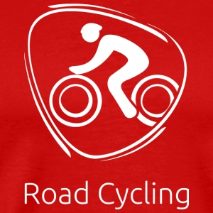 Road_cycling_white - Men's Premium T-Shirt