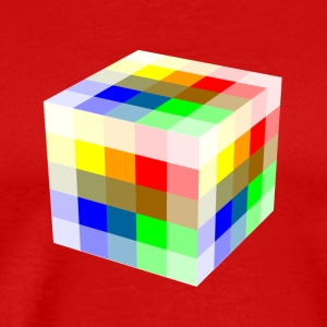Multi Colored Cube - Men's Premium T-Shirt