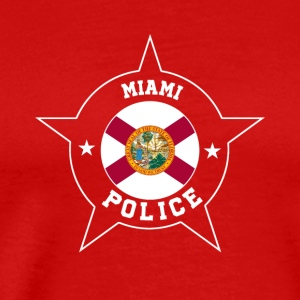 Miami Police T Shirt - Florida flag - Men's Premium T-Shirt