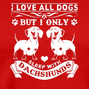 Sleep With Dachshunds Shirt - Men's Premium T-Shirt