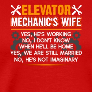 Elevator Mechanic Wife Shirt - Men's Premium T-Shirt
