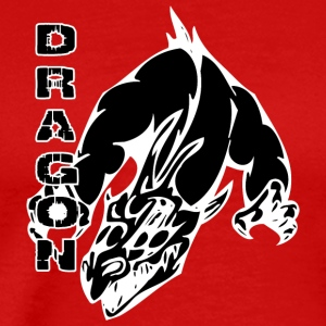 dragon_with_hands_black - Men's Premium T-Shirt