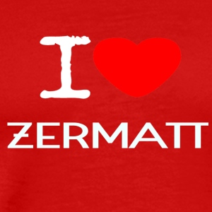 I LOVE ZERMATT - Men's Premium T-Shirt