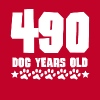 490 Dog Years Old Funny 70th Birthday70 years old, - Men's Premium T-Shirt