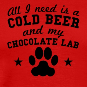 All I Need Is A Cold Beer And My Chocolate Lab - Men's Premium T-Shirt