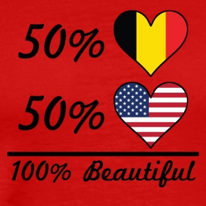 50% Belgian 50% American 100% Beautiful - Men's Premium T-Shirt