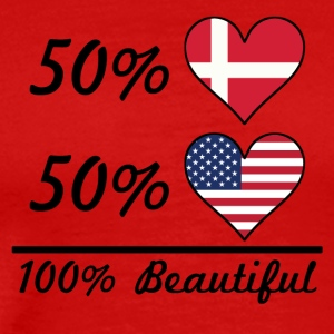 50% Danish 50% American 100% Beautiful - Men's Premium T-Shirt