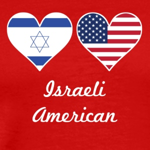 Israeli American Flag Hearts - Men's Premium T-Shirt