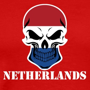 Dutch Flag Skull Netherlands - Men's Premium T-Shirt