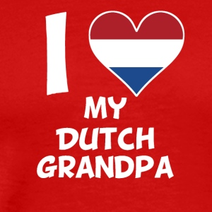 I Heart My Dutch Grandpa - Men's Premium T-Shirt