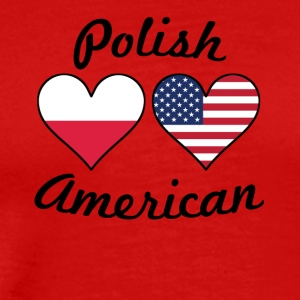 Polish American Flag Hearts - Men's Premium T-Shirt