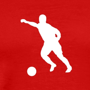 Soccer Player Silhouette - Men's Premium T-Shirt