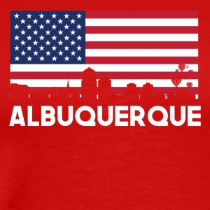 Albuquerque NM American Flag Skyline - Men's Premium T-Shirt