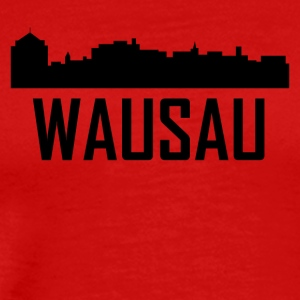 Wausau Wisconsin City Skyline - Men's Premium T-Shirt