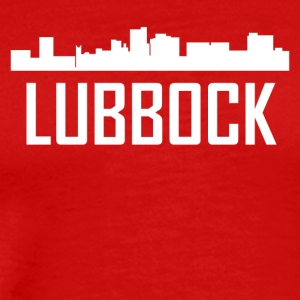 Lubbock Texas City Skyline - Men's Premium T-Shirt