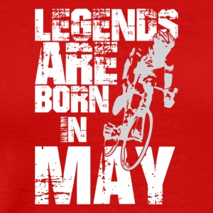 Legends Are Born In May Cycling - Men's Premium T-Shirt